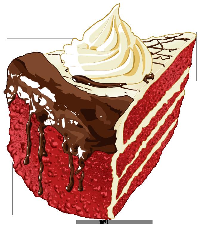 Red Velvet Cake Drawing