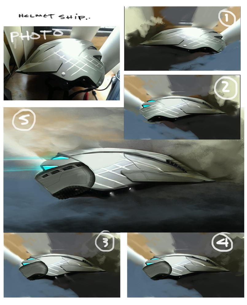 Ship Helmet steps by Elemento11