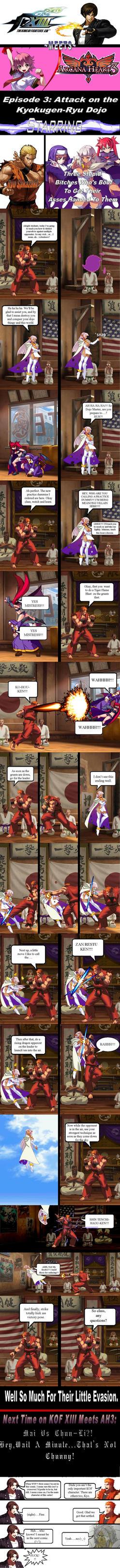 KOF XIII Meets Arcana Heart 3  Comic Issue #3 by ArtMaster09