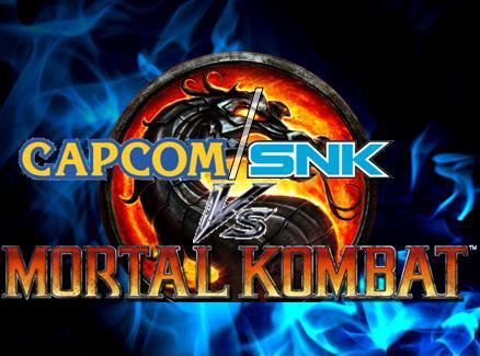 Capcom/SNK vs MK Logo with flame background by ArtMaster09