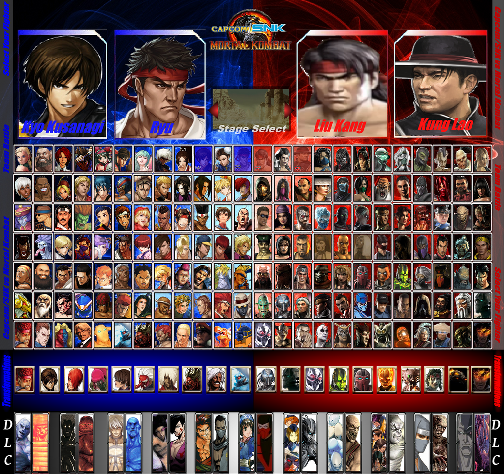 CapcomSNK vs Mortal Kombat Character Roster by ArtMaster09 on