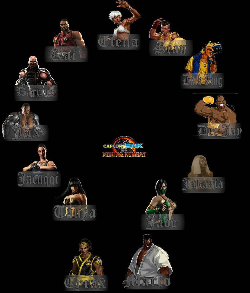 Capcom/SNK vs Mortal Kombat-The Blackfist by ArtMaster09