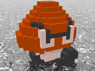 3D Nintendo Goomba by NES--still-the-best