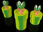 3D Nintendo - Piranha Plants
