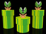 3D Mario Piranha Plants