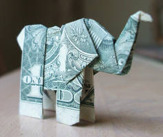 Origami Elephant by NES--still-the-best