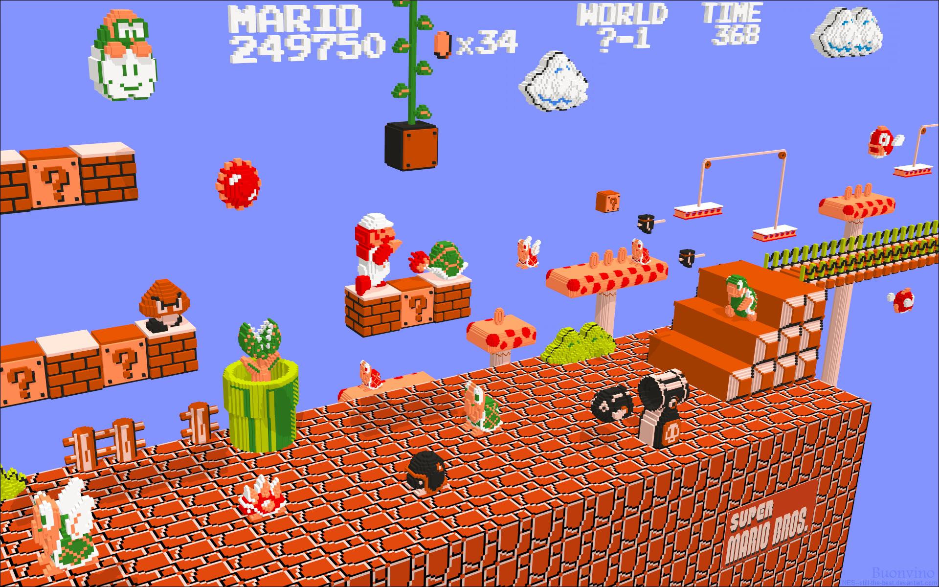 Nintendo 3D Mario by NES--still-the-best