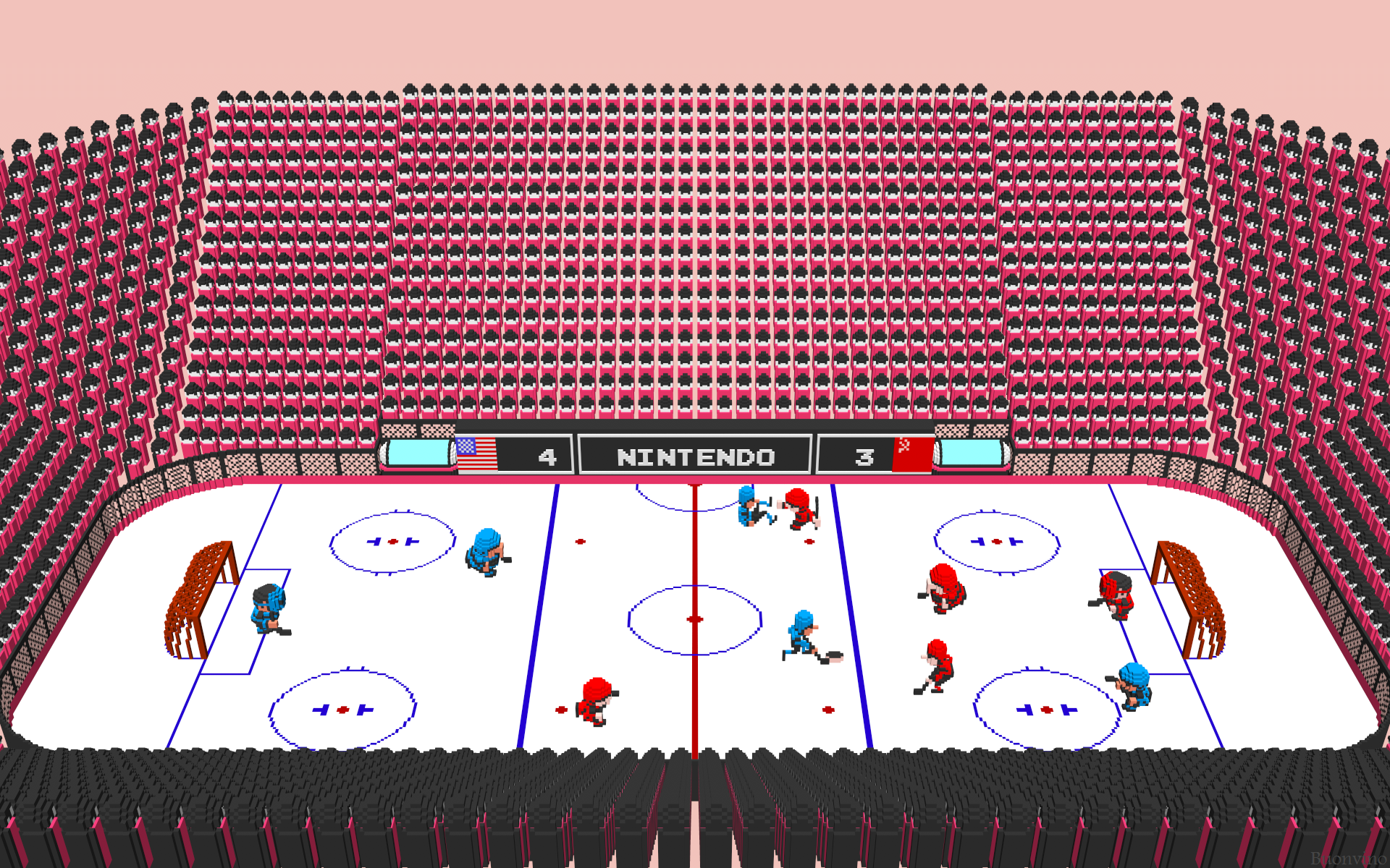 Nes Ice Hockey Fight D Nintendo Ice Hockey By Nes Still The