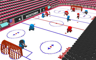 3D Nintendo Ice Hockey