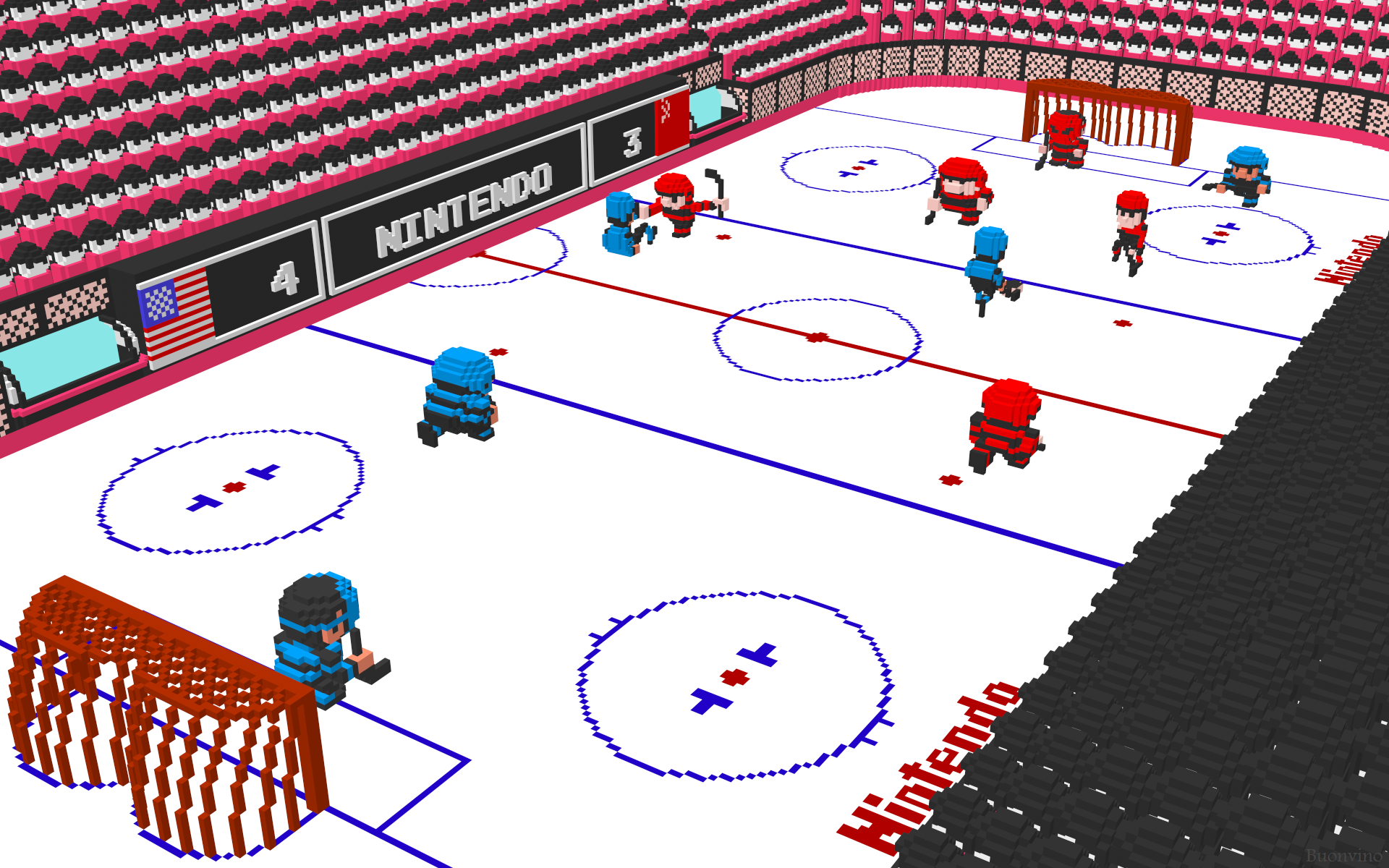 Nes Ice Hockey Fight Nintendo D Ice Hockey By Nes Still The