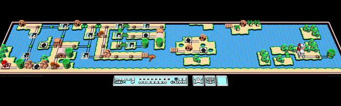3D Nintendo Mario 3 World 3