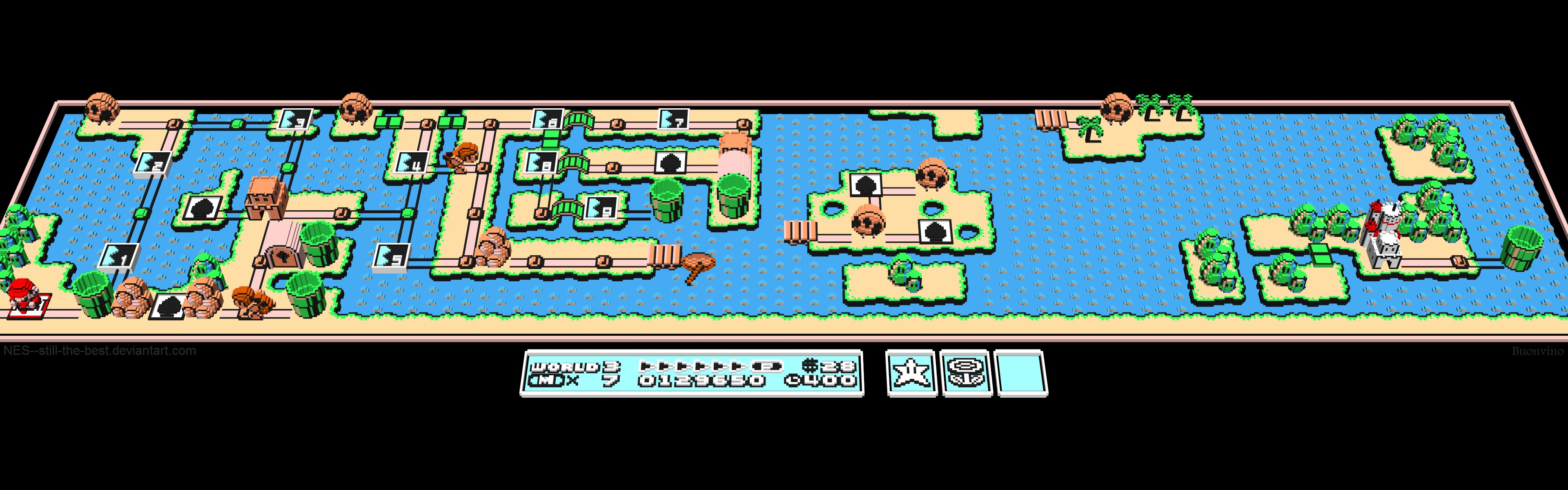 D Nintendo Mario World By NESstillthebest On DeviantArt - World map screen wallpaper