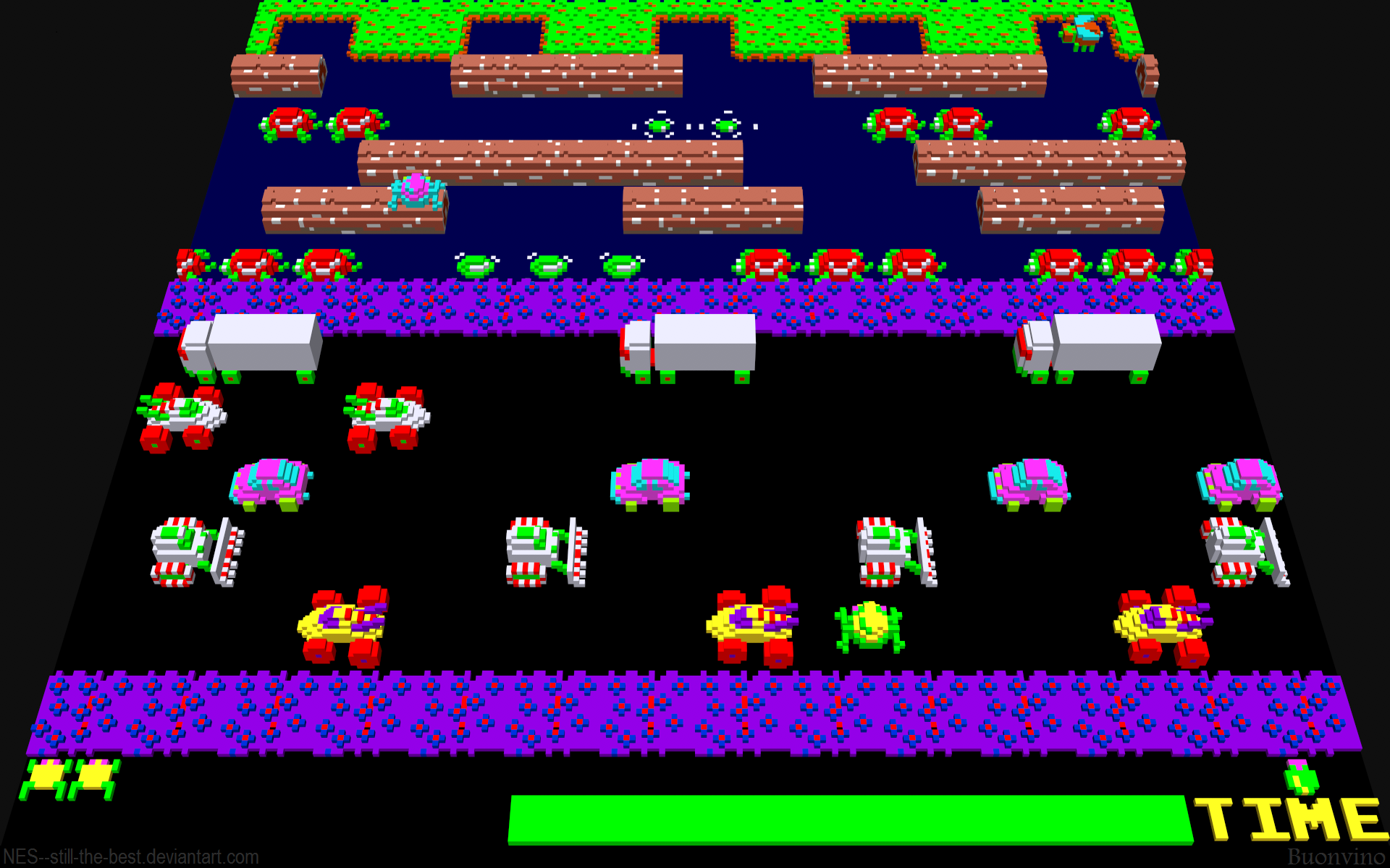 Frogger 3d By Nes Still The Best On Deviantart