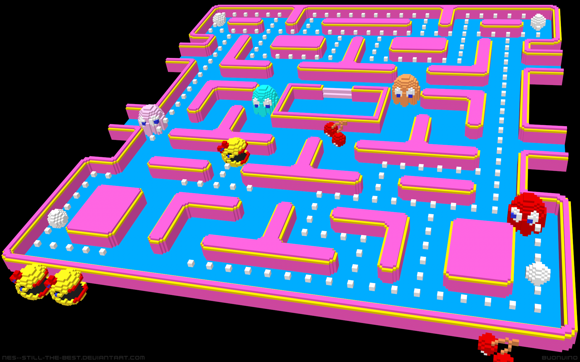 Nes Ice Hockey Fight Ms Pac Man By Nes Still The Best