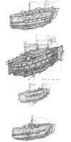 Steampunk flying battleship