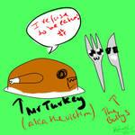 Mr Turkey isn't in the mood...