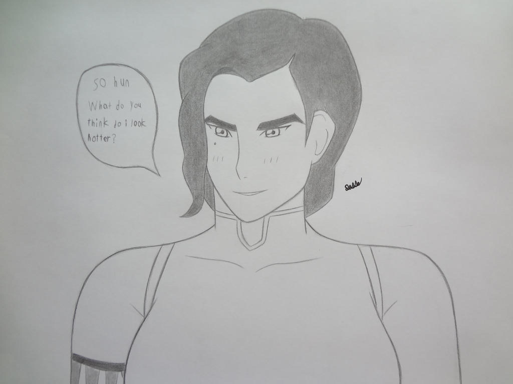 Kuvira in Korra's old outfit by 112Tyranus