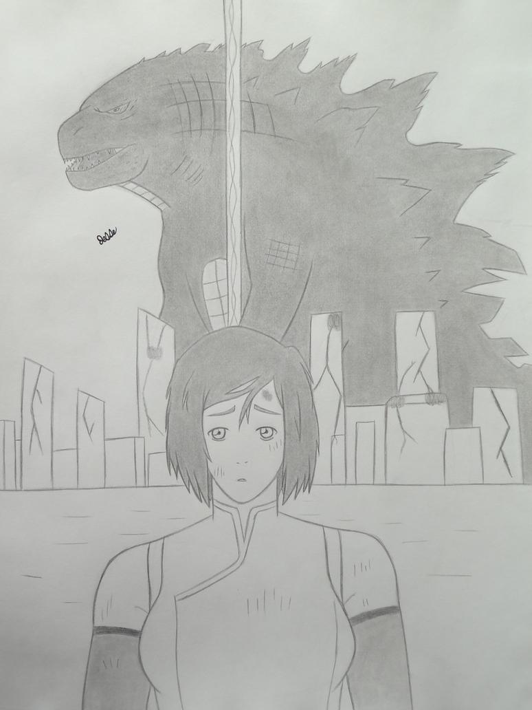 Legend Of Korra:Gojira cover art #2 by 112Tyranus