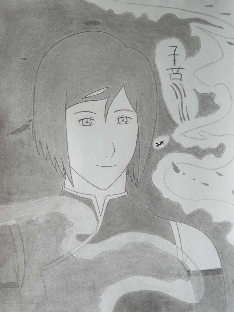 Korra's water portrait by 112Tyranus