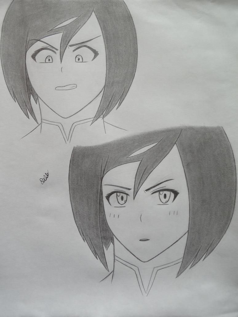 Korra in the anime art style of by 112Tyranus