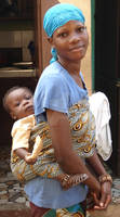 African girl and her baby