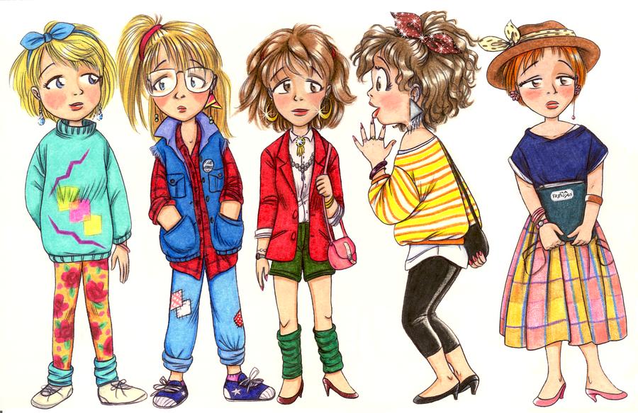 80s Fashion 5 Different Style By Retrogrlfan On Deviantart