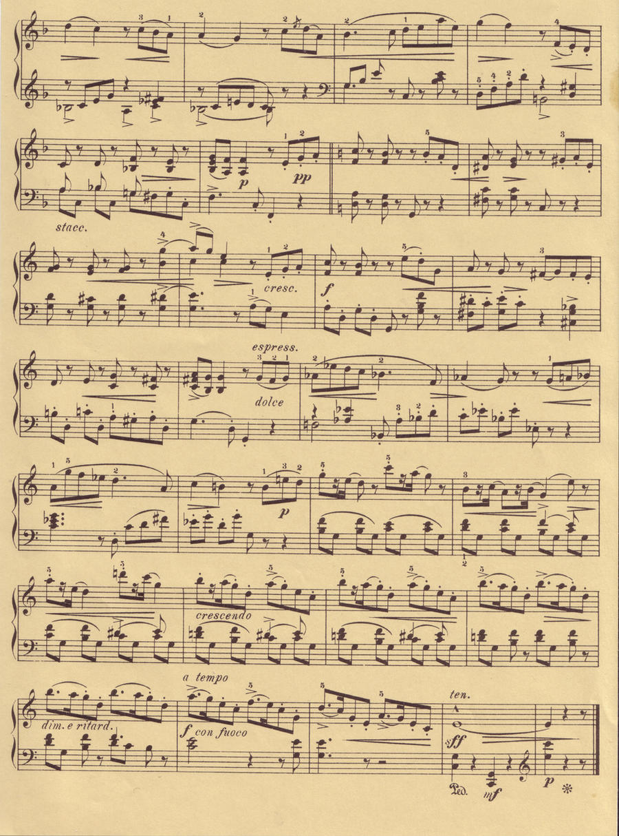 Old Fashioned Sheet Music Pages