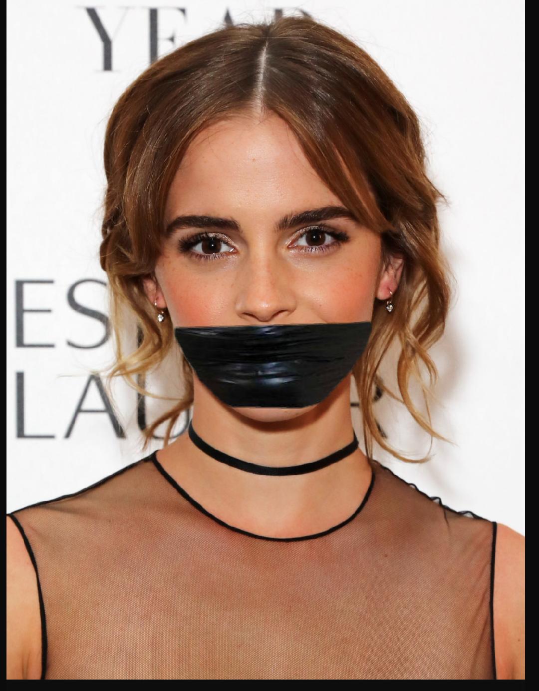 Emma Watson Gagged