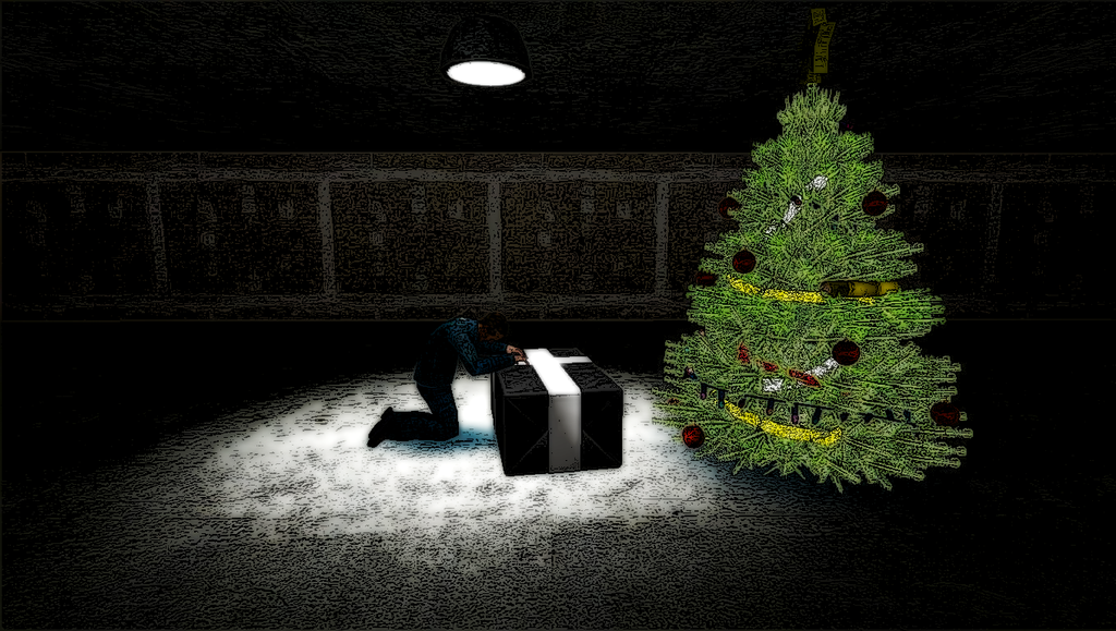 Lonely Man's Christmas by StationAperture on DeviantArt