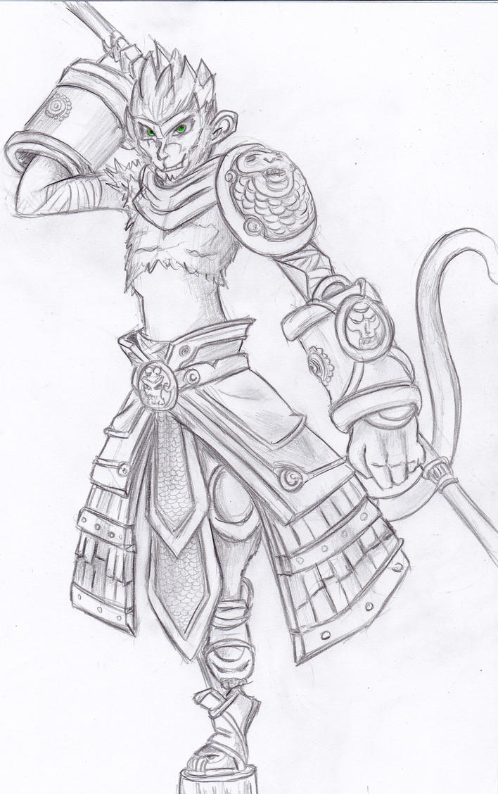 It's just a photo of Canny Sun Wukong Drawing