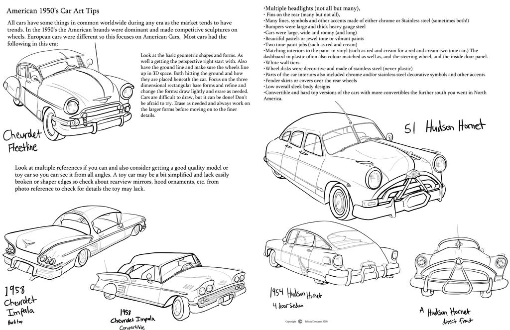 1950s Cars Art Tips by Auronyth