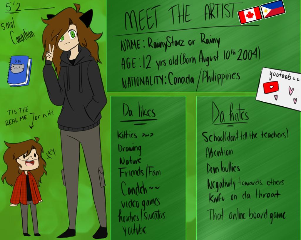 Meet the Artist by RainyStarz101