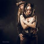 Steampunk Bonnie and Clyde