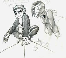 TT- BB and Rae pencils by Kirchu