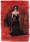 Till Lindemann (comic portrait). Mein Herz brennt