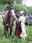 Hussar preparing for battle