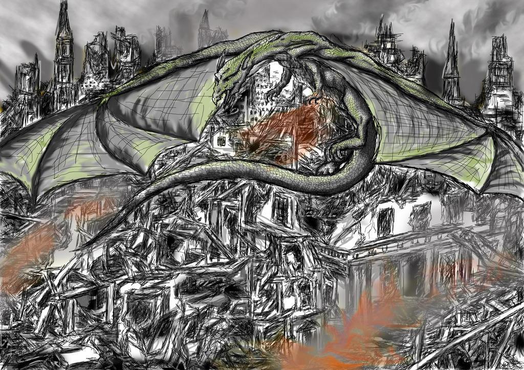 Over Damaged Lands by dracontologe