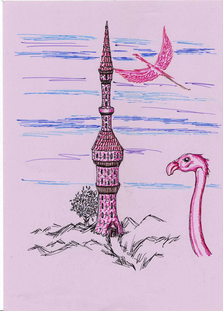 12 Towers Of Magic #03 Flamingo Tower by dracontologe