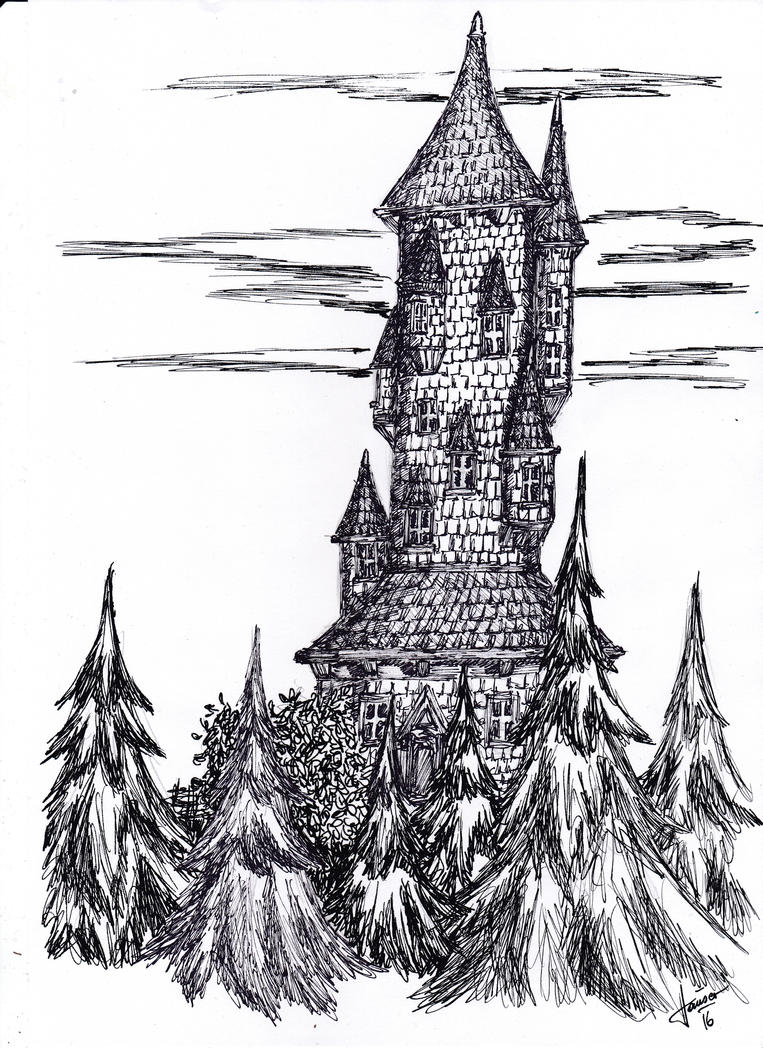 12 Towers Of Magic #05 Sparrow's Tower by dracontologe