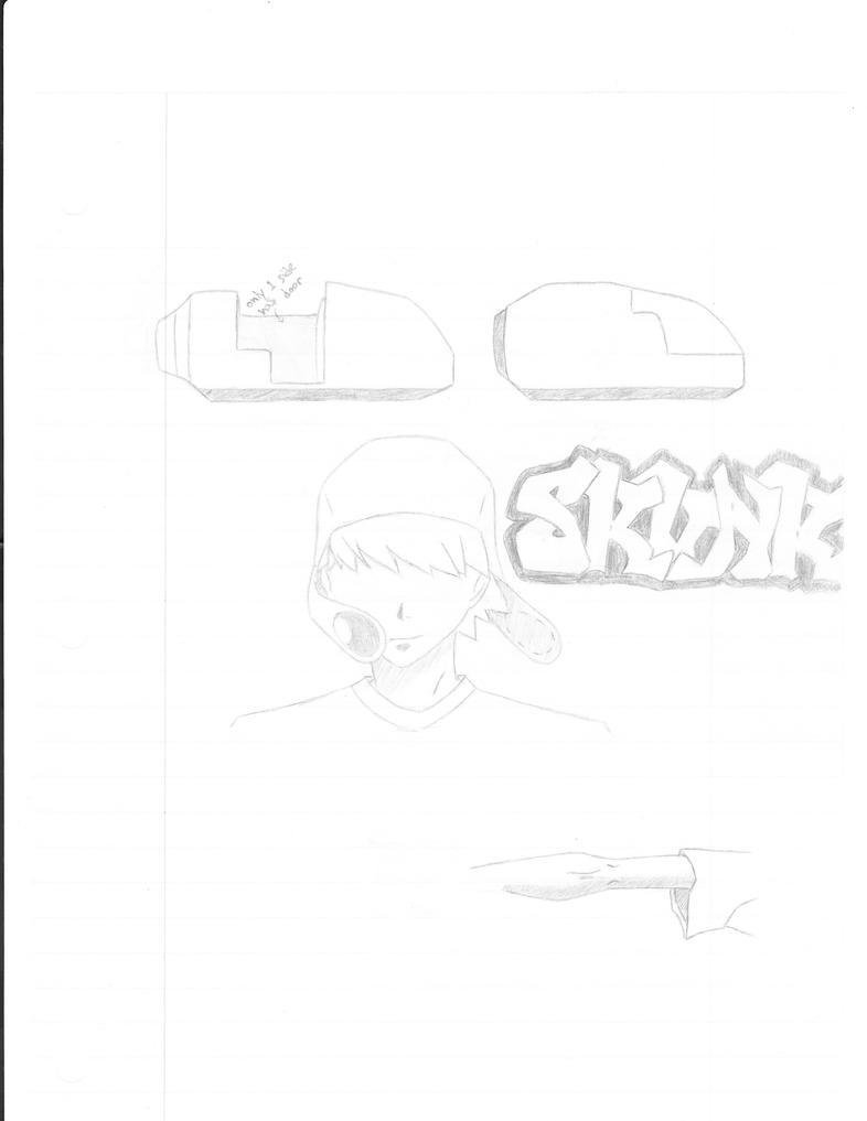 manga original character sketc by skinnivoid