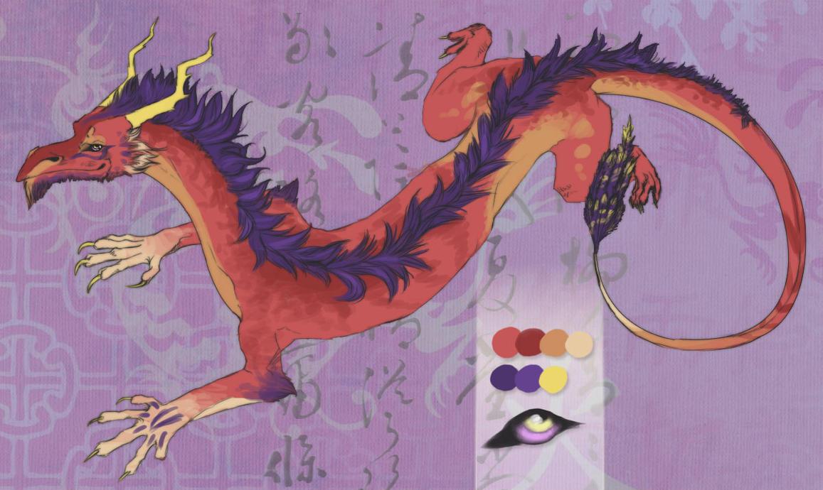 Japanese Dragon Adoptable by AmySilverShine