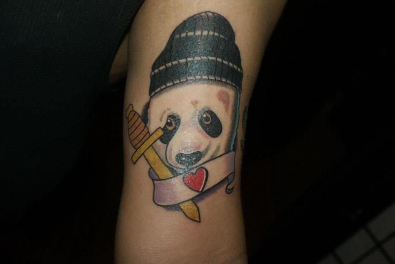 Panda baby tattoo by erictatt on deviantart for Baby panda tattoo