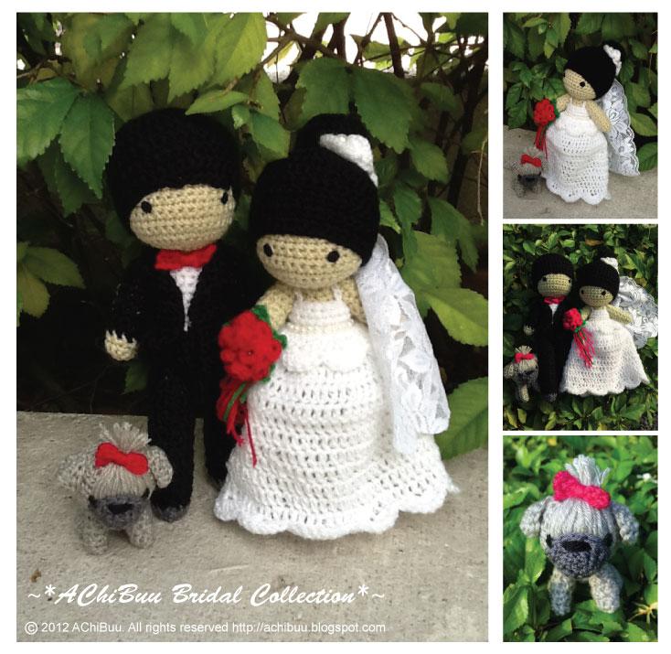 Free Amigurumi Patterns Owls : Amigurumi Wedding Couple with Shih Tzu Dog by AChiBuu on ...
