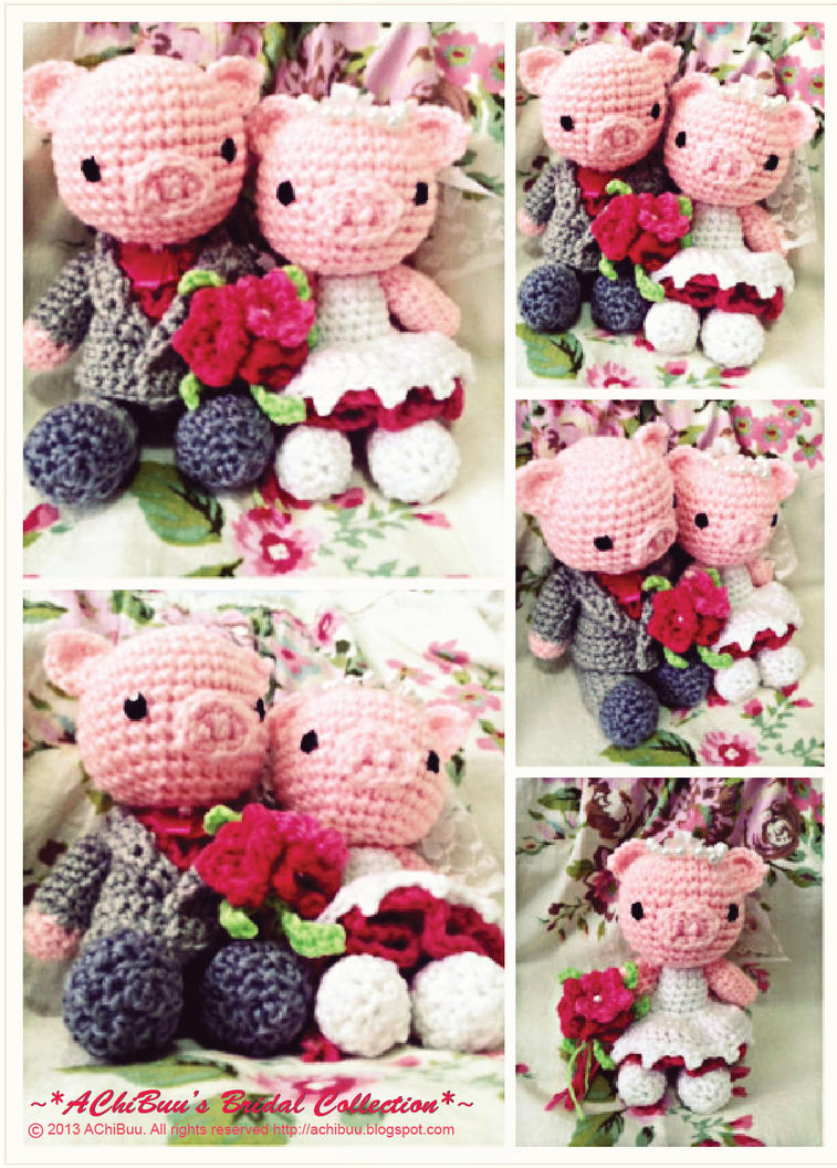 Piggy Wedding Dolls by AChiBuu