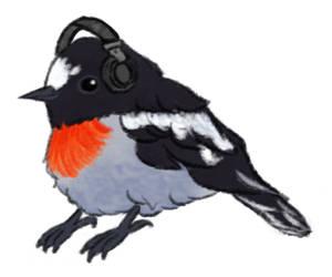 I wonder what he's listening to by sonikkuruzu