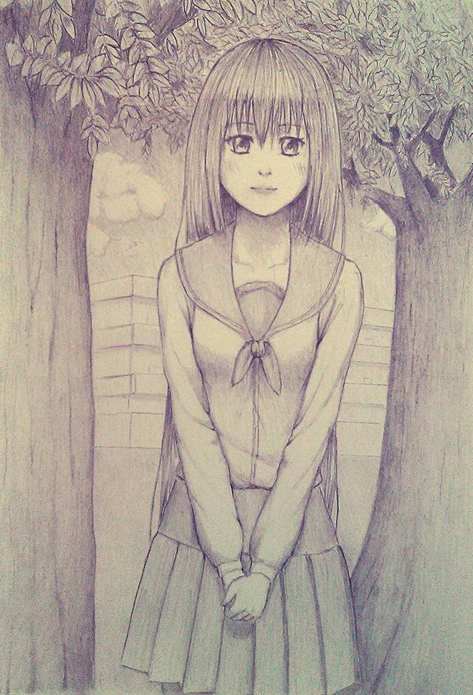 High School Girl by carlomontie
