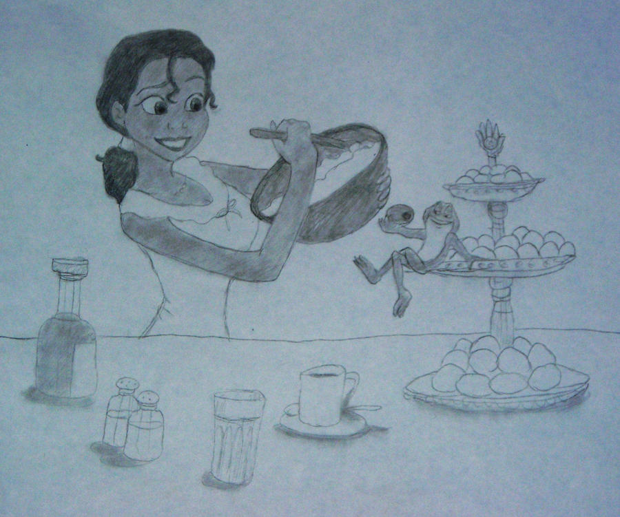 Princess Tiana Cooking: Cooking With Tiana And Naveen By Mystic-Eyes34 On DeviantArt