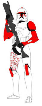 Clone Trooper Scar  (Please read description) by starwarslover29
