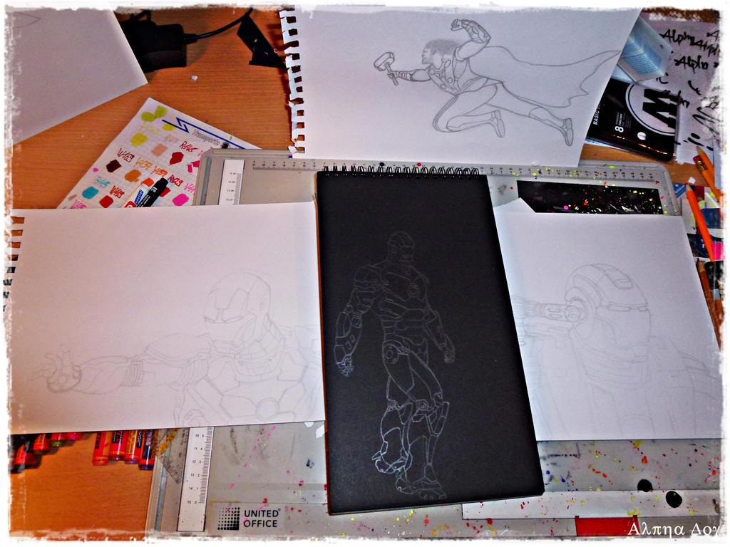 IRON OCTOBER sketch collection by Alpha-Dog