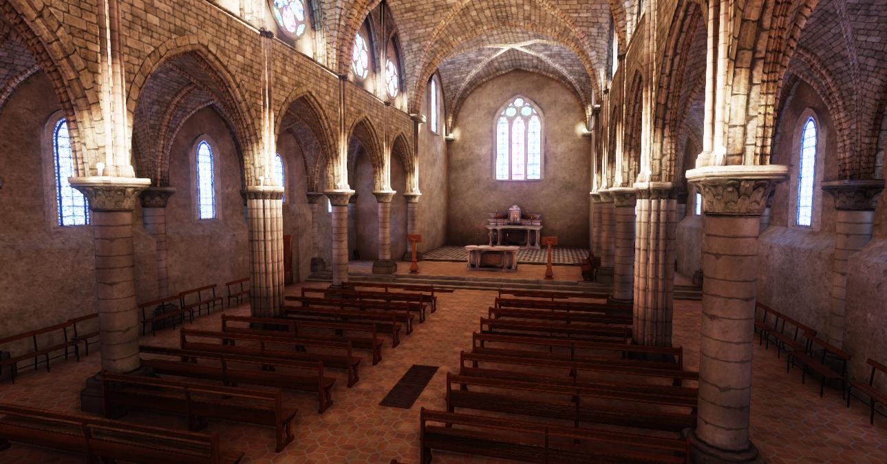 Church environment UDK WIP 8 by amaterasu111